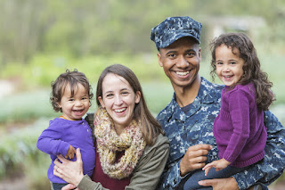 military family with two young kids
