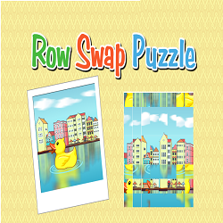 Row Swap Puzzle (Logical Thinking Picture Puzzle Game)