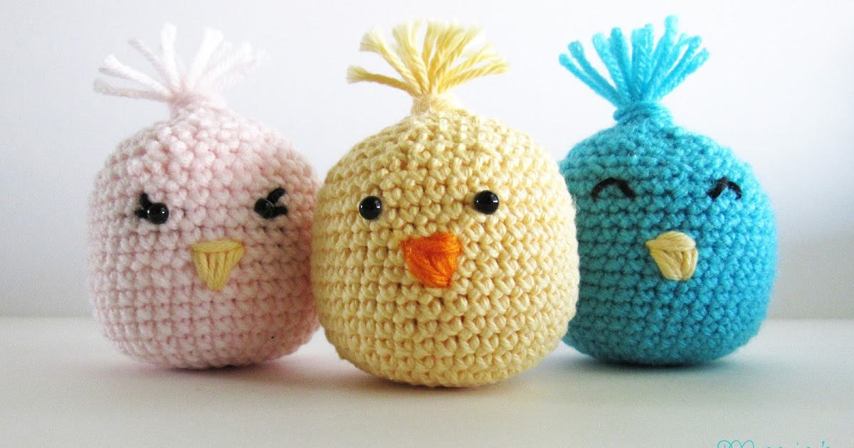 Crochet Easter Chick Shakers Marias Blue Crayon