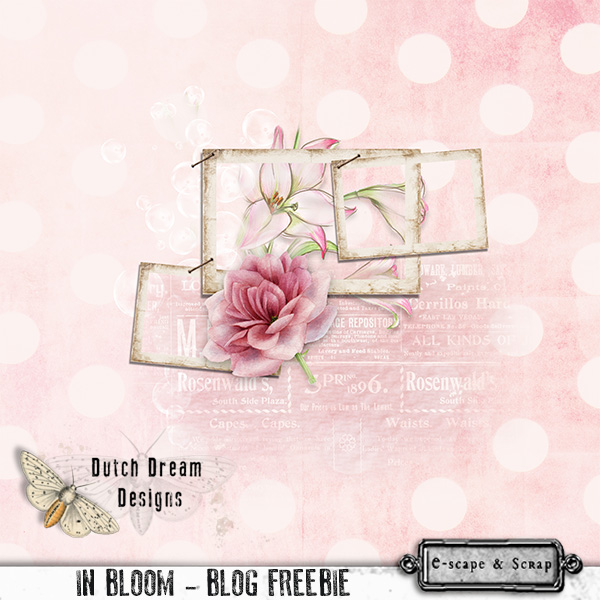 IN BLOOM FREEBie by DUTCH DREAM DESIGNS