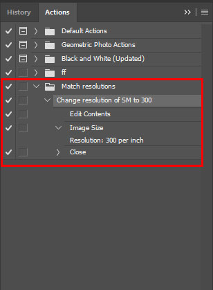 Photoshop action to change resolution of Smart Object layer