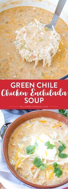 GREEN CHILE CHICKEN ENCHILADA SOUP