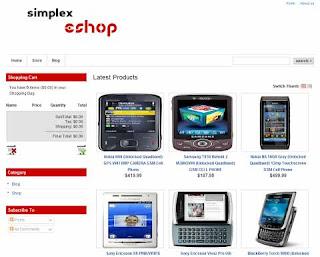 Simplex eShop - Template Blog Toko Online