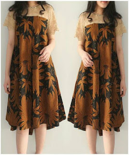 baju batik couple dress pendek
