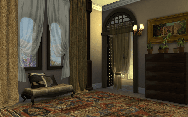 chambre luxueuse sims 4