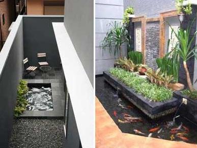 contoh kolam ikan rumah minimalis