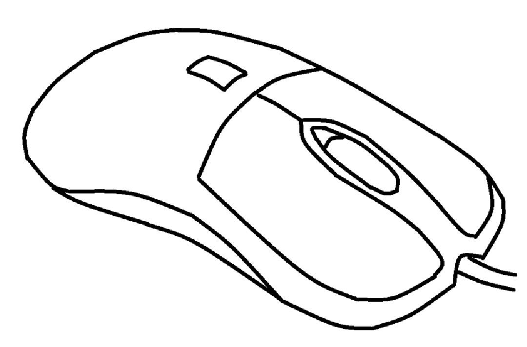 Mewarnai Gambar Mewarnai Gambar Sketsa Mouse Komputer 4
