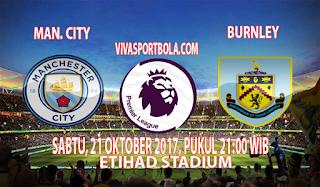 Prediksi Manchester City vs Burnley 21 Oktober 2017