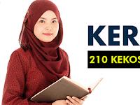 Jawatan Kosong Kerani Terkini - 210 Kekosongan | Gaji RM1,200.00 - RM3,500.00++