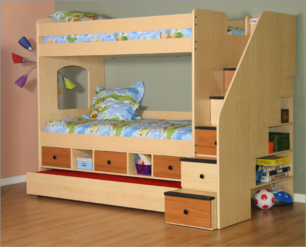 best bunk beds with futon bottom