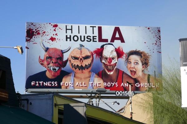 Hiit House LA Halloween 2018 billboard