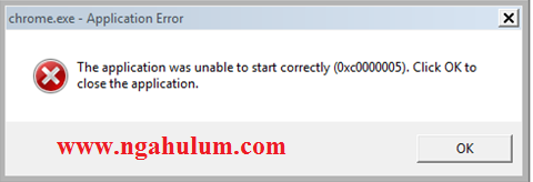 Mengatasi Google Chrome The Application Was Unable To Start Correctly (0xc0000005)