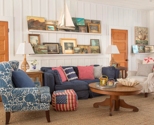 Vintage Nautical Beach Cottage