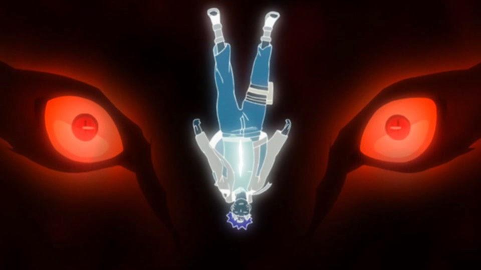 Kyubi hablando a Naruto