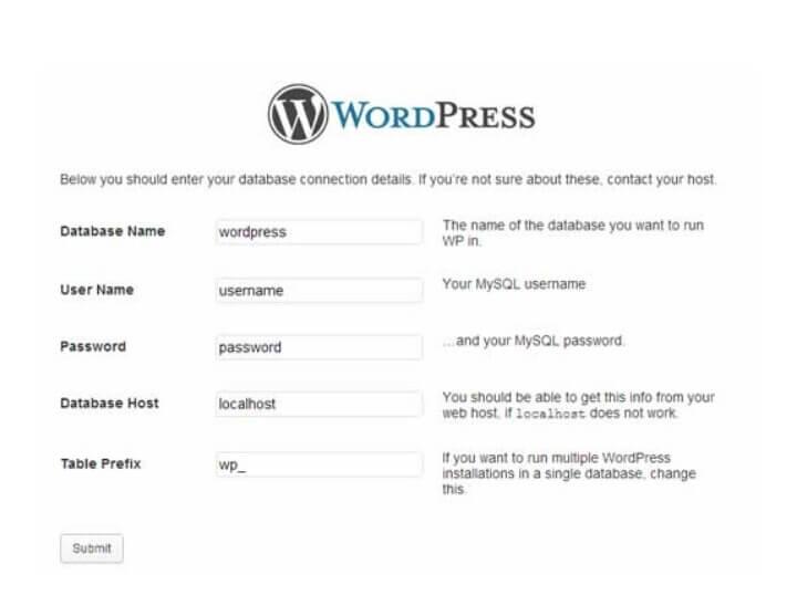 Mengisi Formulir WordPress