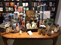 a tabletop display at The Ripped Bodice