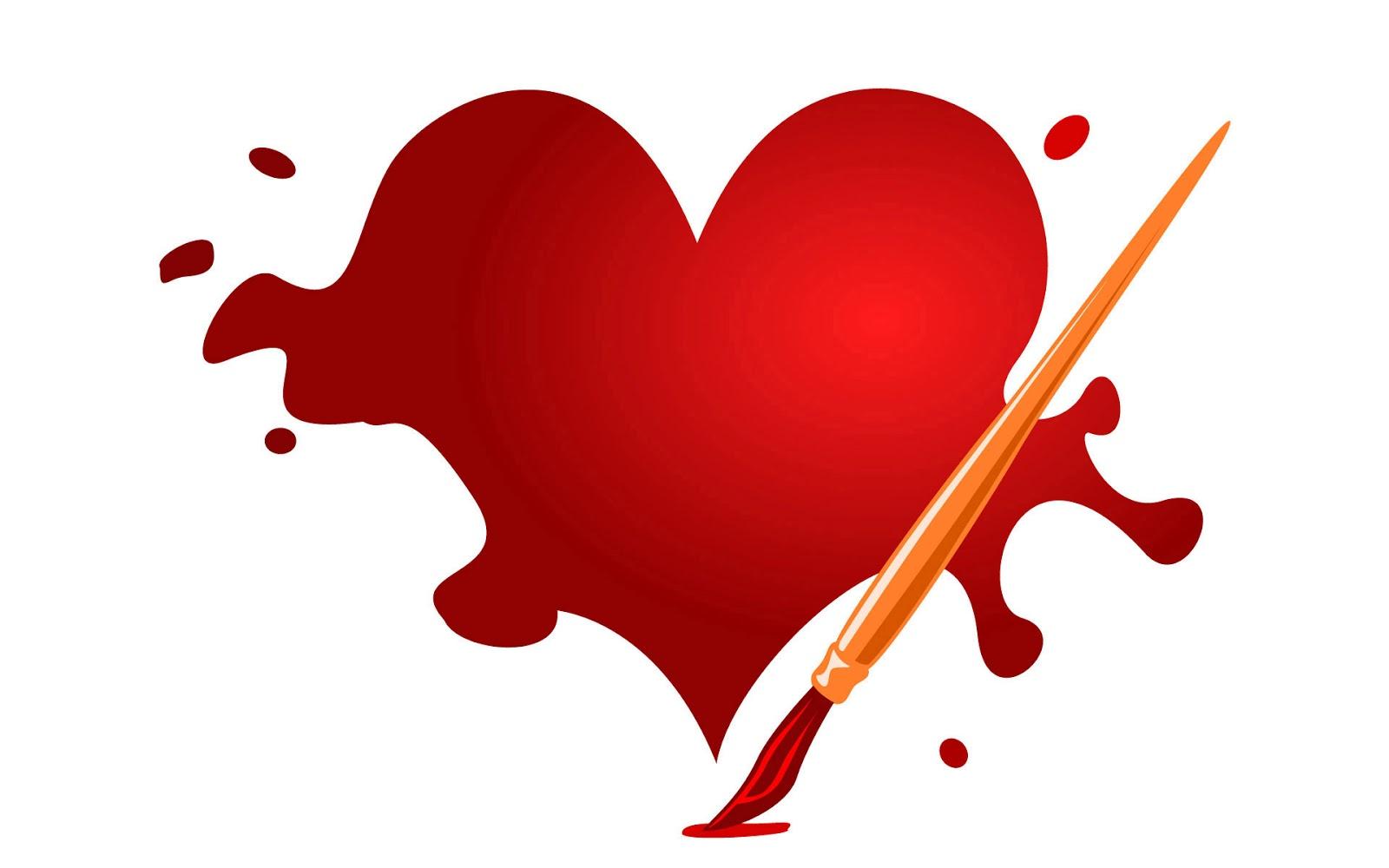 Corazón con pincel