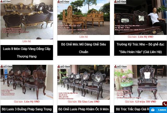 Website dotinh.com sở hữu những bộ bàn ghế trường kỷ cổ đẹp