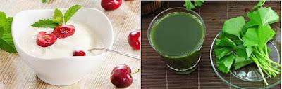 cách trị nám da bằng sữa chua và rau má