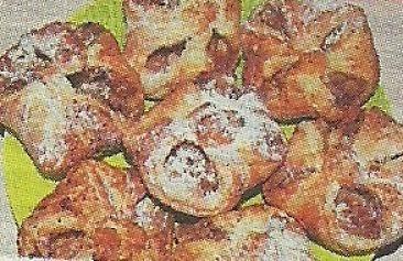 Состав продуктов и способ приготовления слоек с яблоками