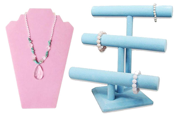 Shop pastel-colored wholesale jewelry displays.