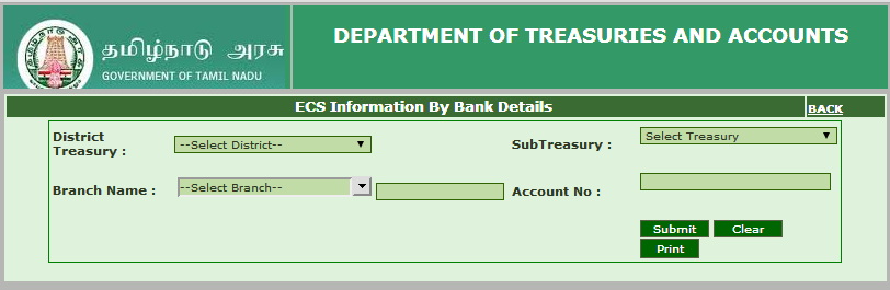Check Karuvoolam Ecs Status Payroll For Pensioners