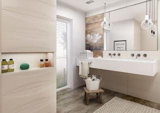 baño azulejos beige