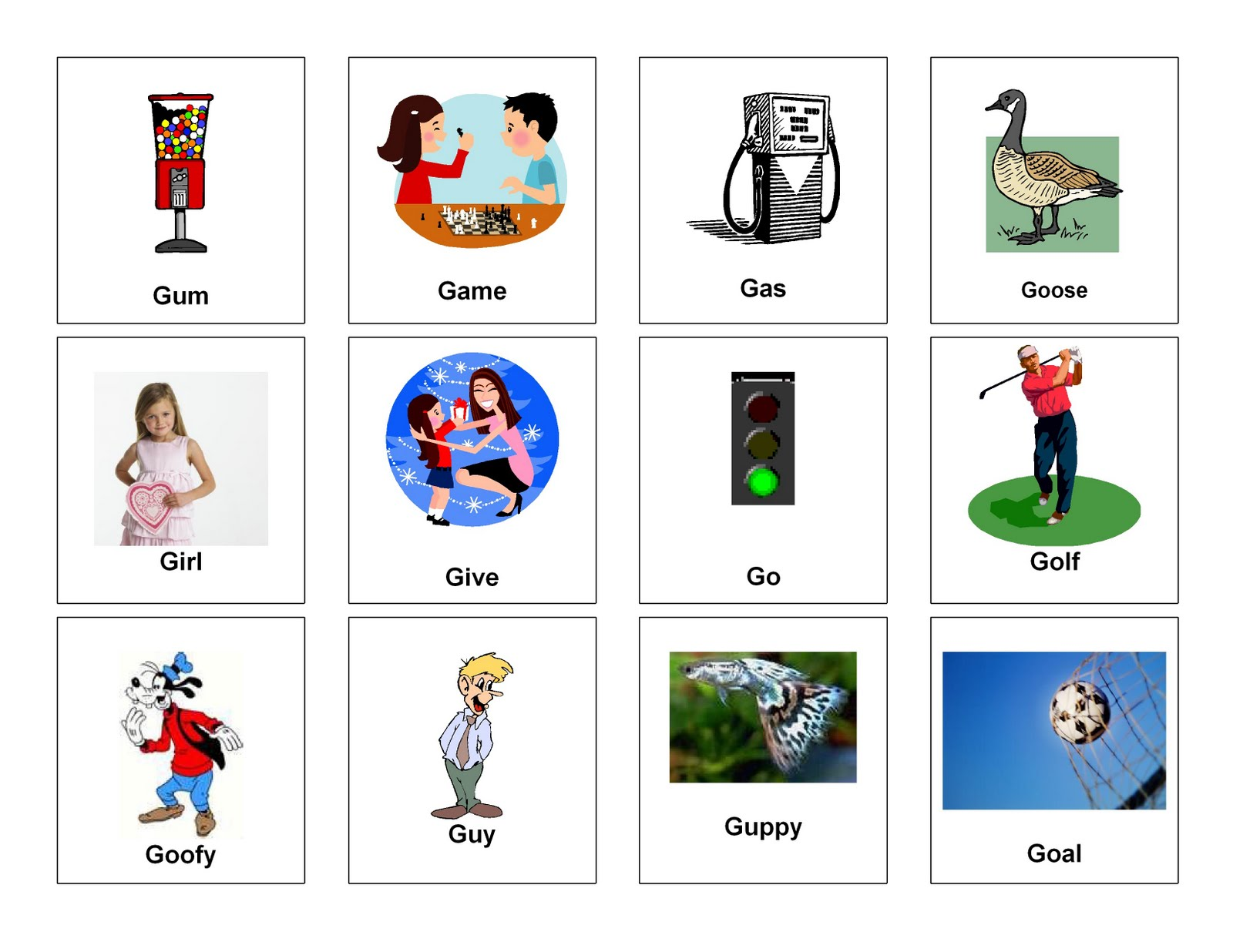 Clear Speech Therapy G Words