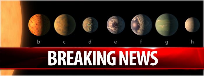 descoberta de 7 planetas que podem abrigar água e vida