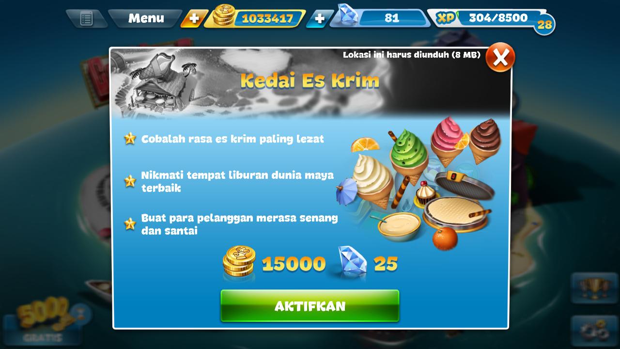 Blog Budianto Pratama Hartono Trik Dapatkan Banyak Berlian Di Cooking Fever Tanpa Aplikasi Root Android