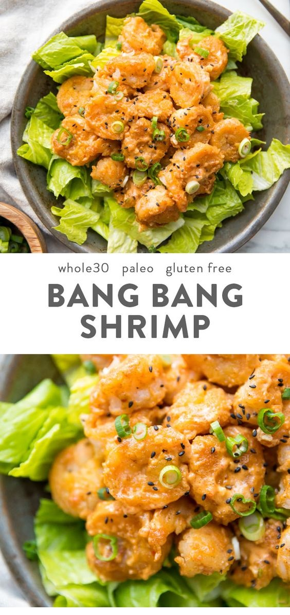 Whole30 Bang Bang Shrimp