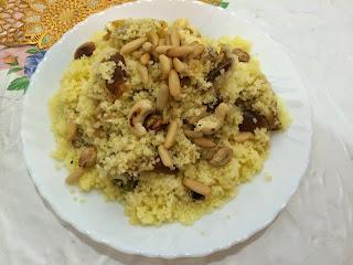 Recette du Couscous aux dattes et noix