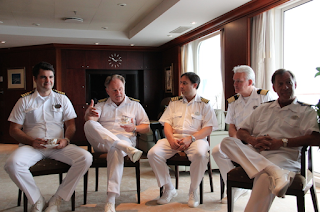 High Rank Officers on cruise ship  Офицеры высшего ранга на круизном корабле