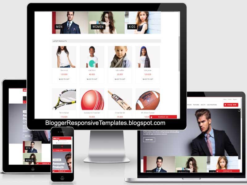 Downloads Mega Shop Responsive Ecommerce Blogger Template