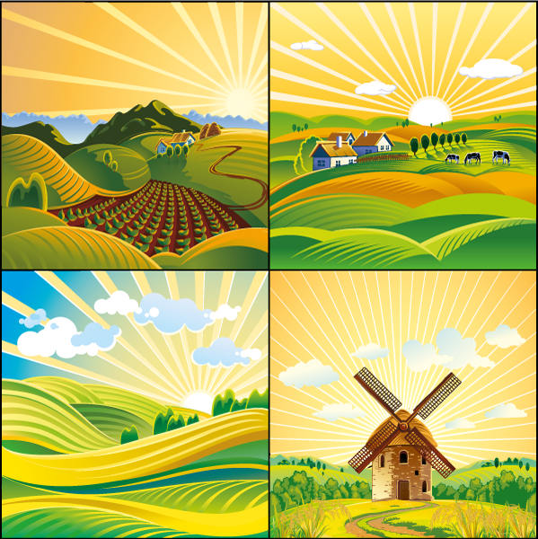 Paisaje rural - Vector
