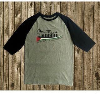 Jual Kaos Raglan Palestina Desain Al Aqsa