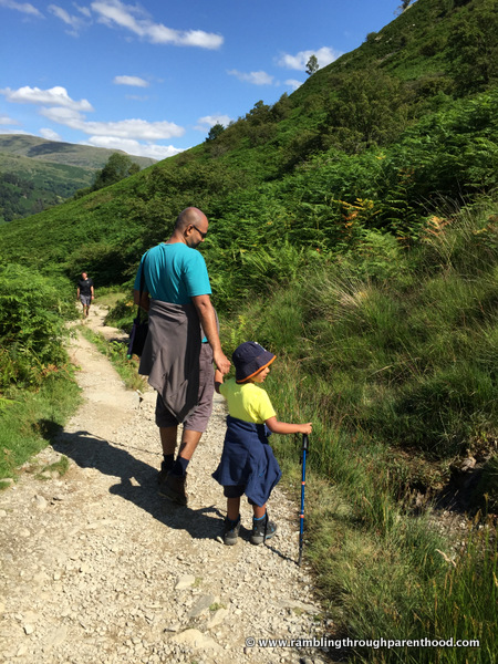 Walking along Loughrigg Terrace