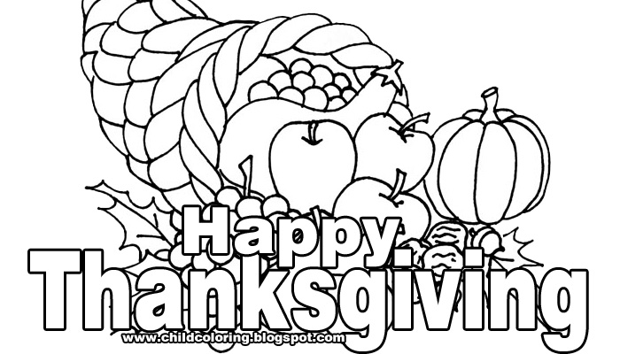 happy thanksgiving coloring pages printable - photo#11