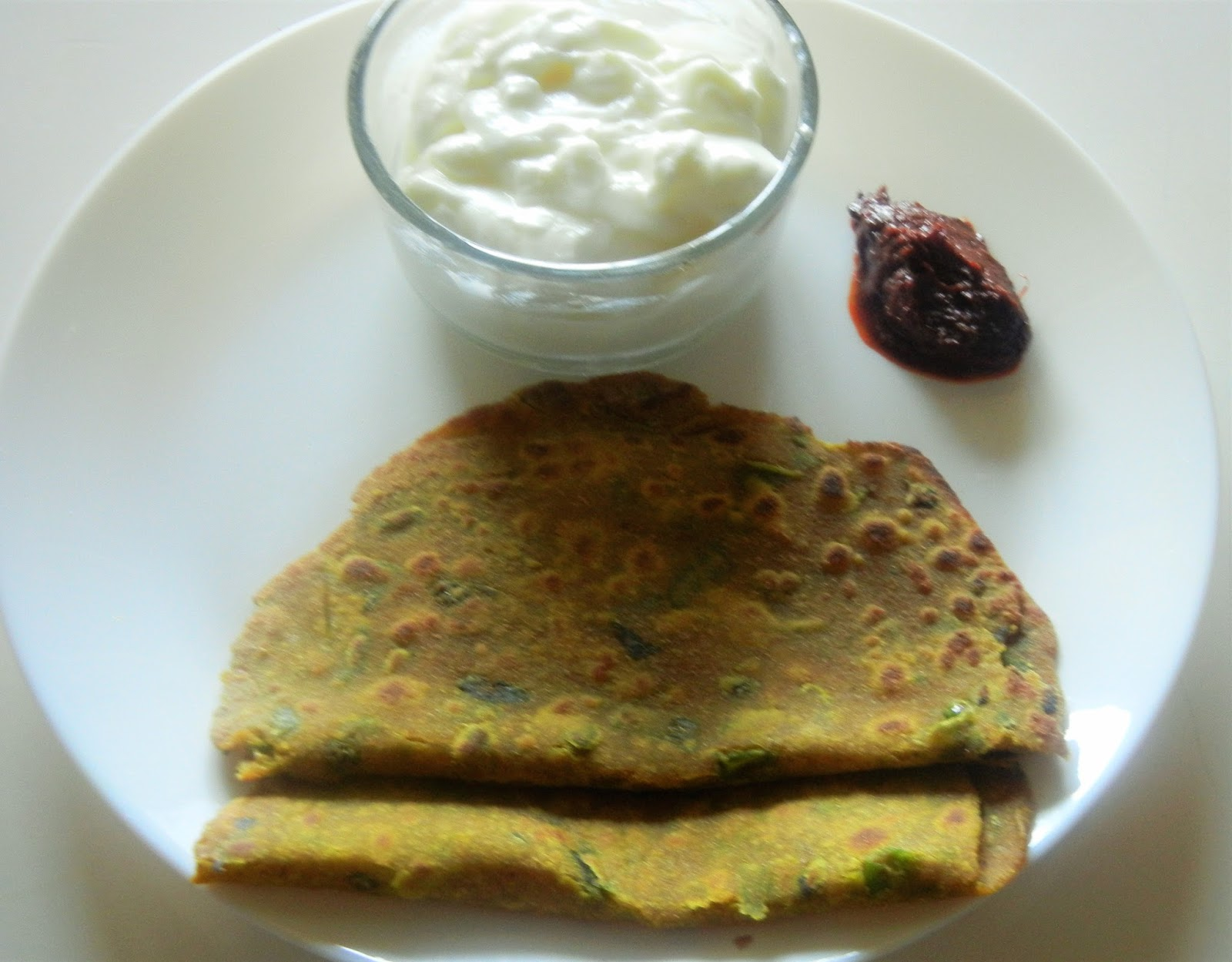 Gitas kitchen a blog for indian diabetic recipes and healthy spinach chapathis spicy forumfinder Images