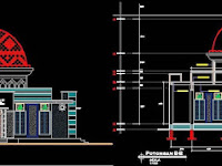 Download Desain AutoCad Masjid Minimalis