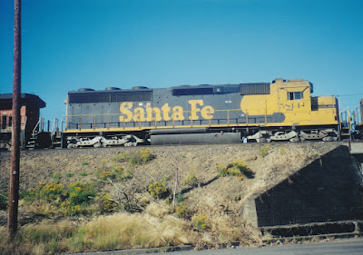 Atchison, Topeka & Santa Fe SD45-2u #5814 in Vancouver, Washington, in July, 1999