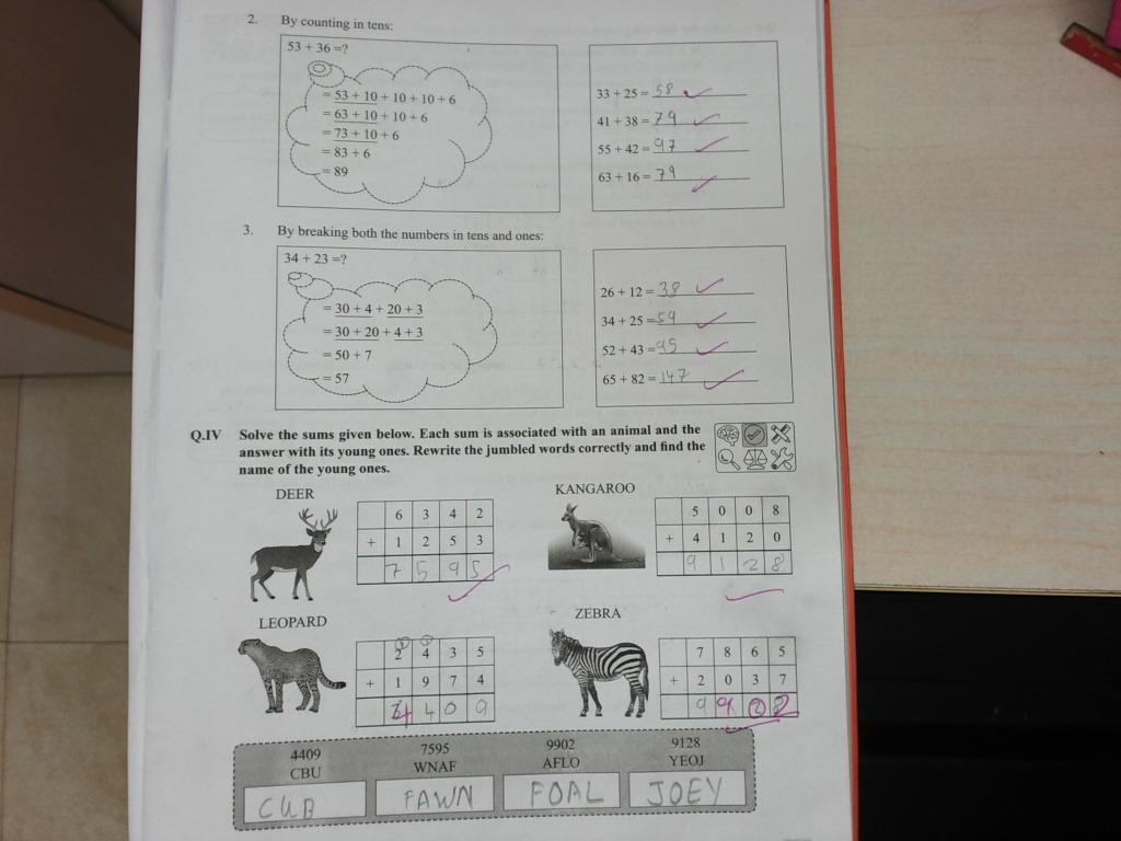 PIS VADODARA STD 3: Grade 3 Math ch-3 Addition Workbook