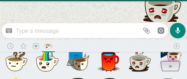 Whatsapp sticker feature, whatsapp update