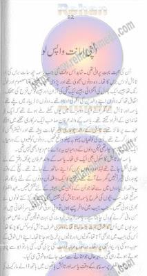 Apni amanat wapas lo by Tahir Javed Mughal pdf.