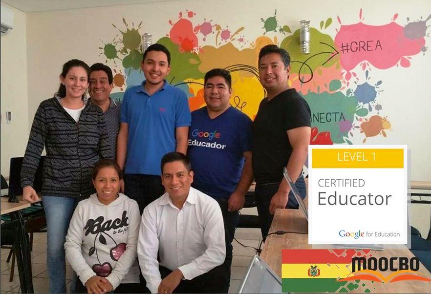 Pamela Sossa, Iván Selaya, Pablo Becerra, Franz Viraca, José Santander (Trainer), Leslye Antezana y Eulogio Seña / GEG Bolivia