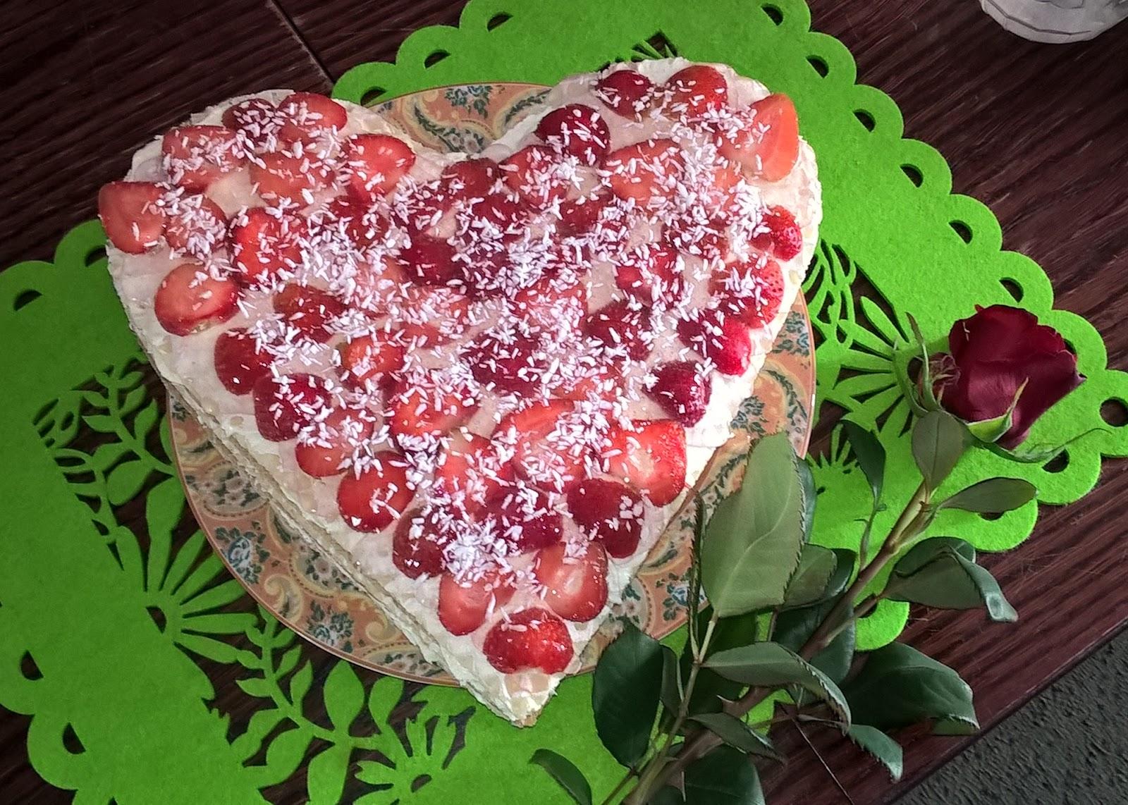 tort ztruskawkami bezpieczenia dla mamy