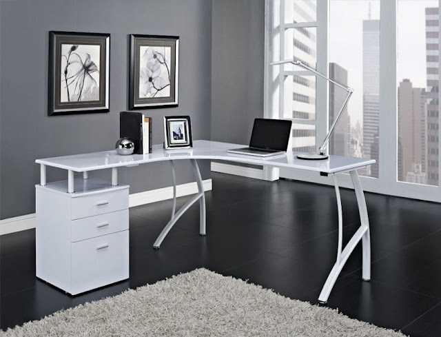 best buy modern white home office furniture Portland for sale