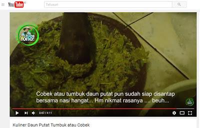 Kuliner Daun Putat Tumbuk / Cobek