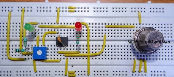 دائرة انذار بسيطة لكشف الدخان Simple Smoke Detector Alarm Circuit