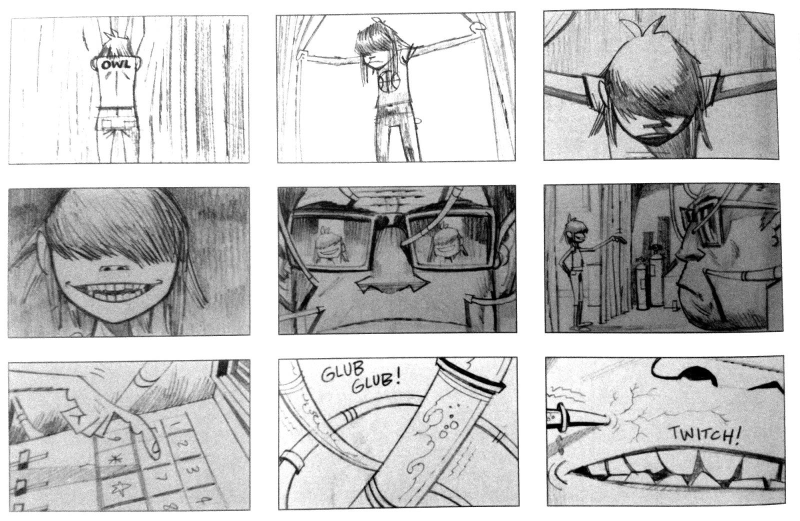 Scribble Junkies: Storyboards from Gorillaz